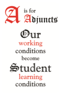 Adjunct working conditions poster