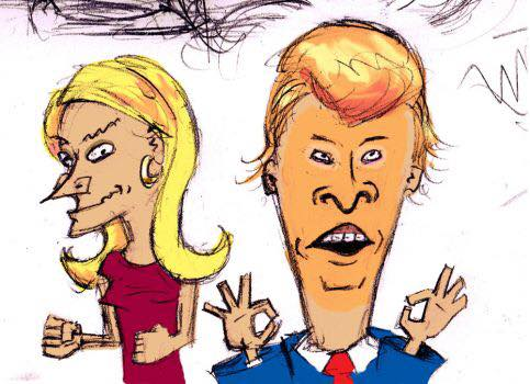 Beavis & Butthead Trump & Kellyanne-Kurt Wohleber
